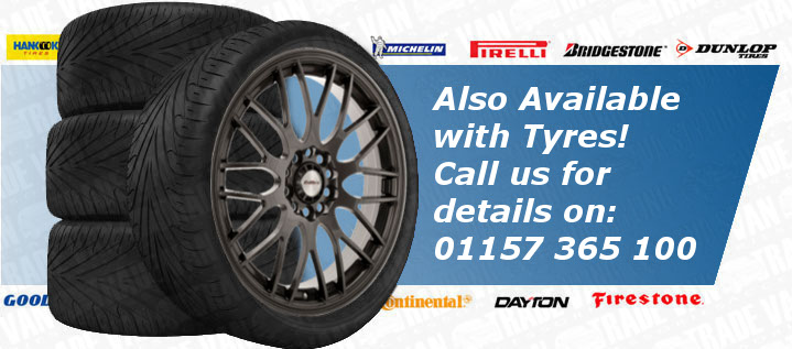 "Ford Transit Connect Motion 17"" Alloy Wheels Tyres Hyper Gunmetal Set of 4"