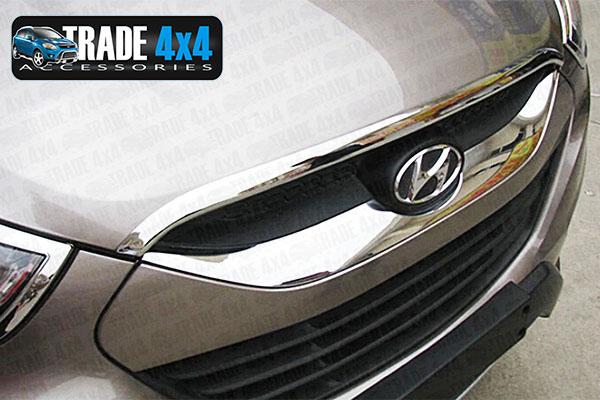 Our chrome hyundai ix35 front grille cover is an eye-catching and stylish addition for your 4x4. Buy online at Trade 4x4 Accessories.