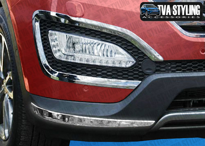 Our chrome Hyundai Santa Fe front and rear Bumper covers are an eye-catching and stylish addition for your car. Buy online at Trade car Accessories.