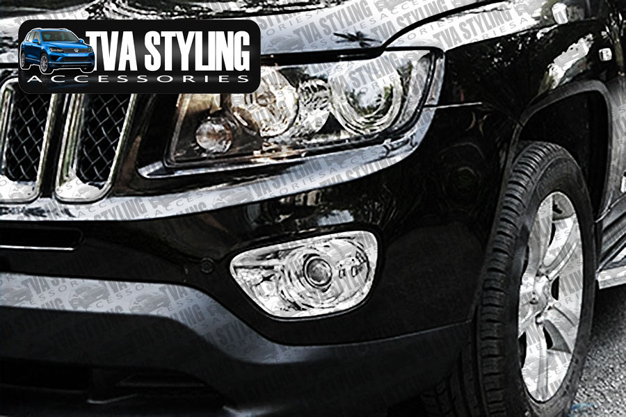 Our chrome Jeep Compass front fog light covers are an eye-catching and stylish addition for your car. Buy online at Trade car Accessories.