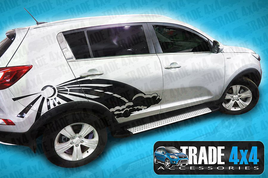 Our Kia Sportage Amour Running Boards Side Steps are Kia OEM Dealer Accessories. Buy our Side Steps online at Trade 4x4 Accessories