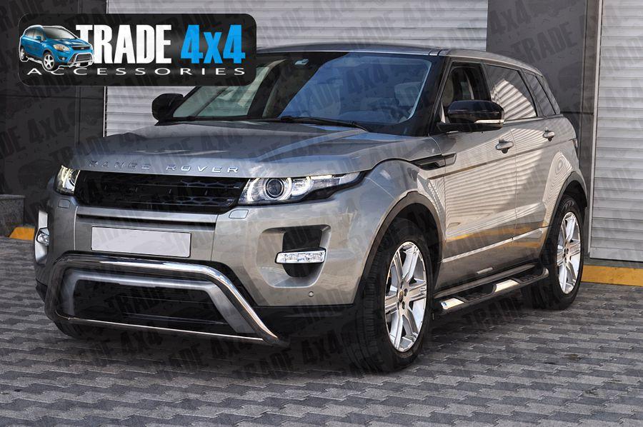Deployed Side Steps For Range Rover Genuine Accessory: Range Rover Evoque Side Bars