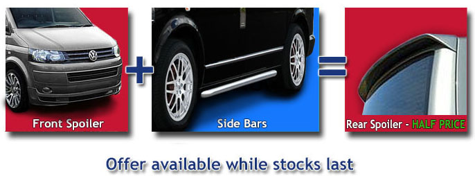 Special Offer Kit - Get the front Spoiler and Side bars and then you get the rear spoiler half price.