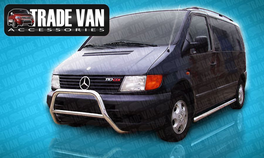 Mercedes Van Camper Price >> Mercedes Vito Bull Bar | Vito Front Styling Nudge Bar | Mercedes Vito Accessories at Trade Van ...