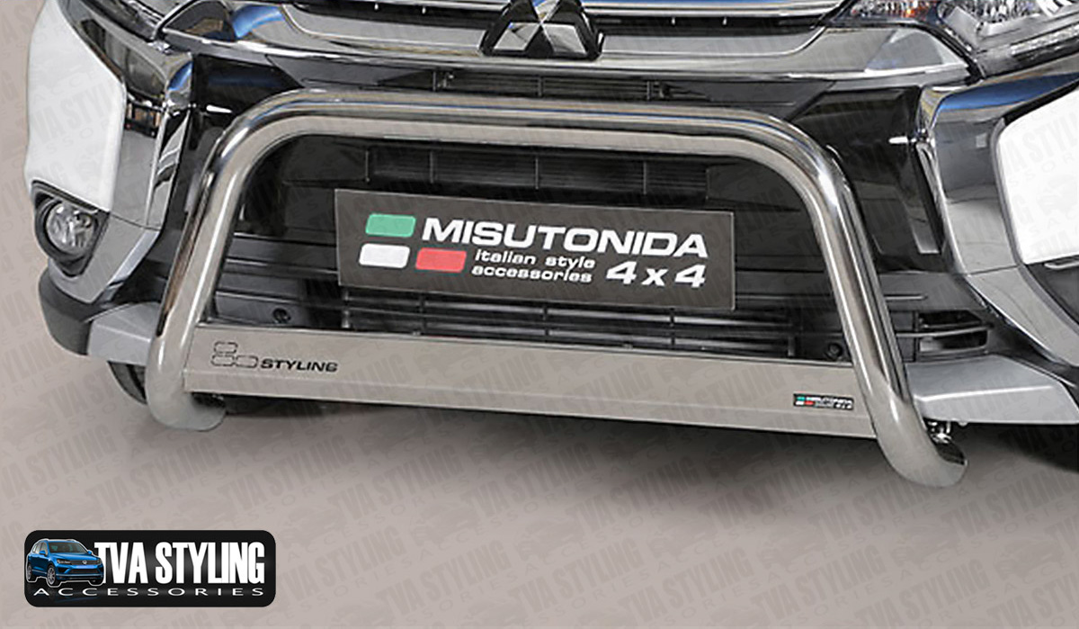 Our Stainless Steel Mitsubishi Outlander INOX Bull Bar is an eye-catching and stylish addition for your van. Buy on at TVA Styling.