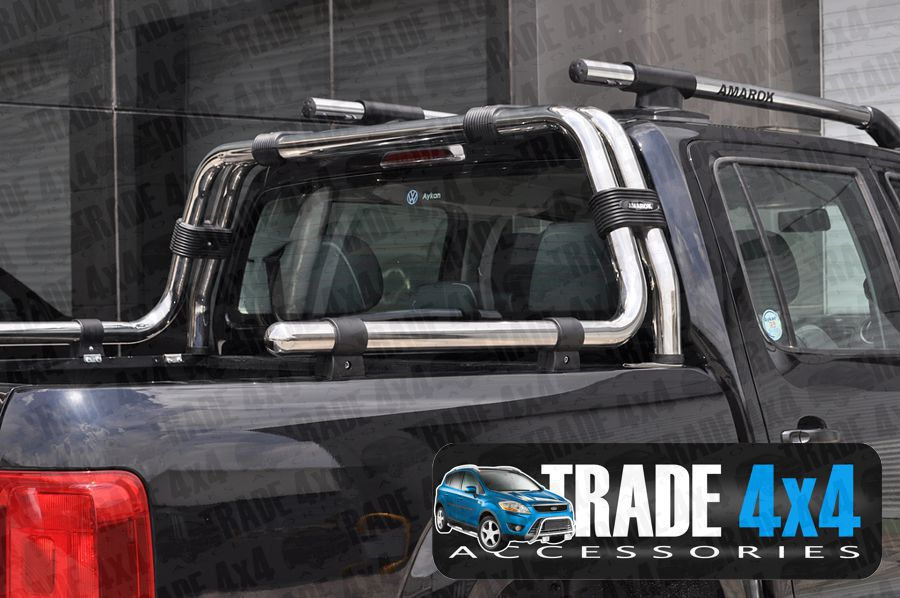 roll bars in chrome stainless steel Navara Roll Bars and Nissan Pickup Accessories are available from Trade Van Accessories. Buy Online at www.tradevanaccessories.co.uk