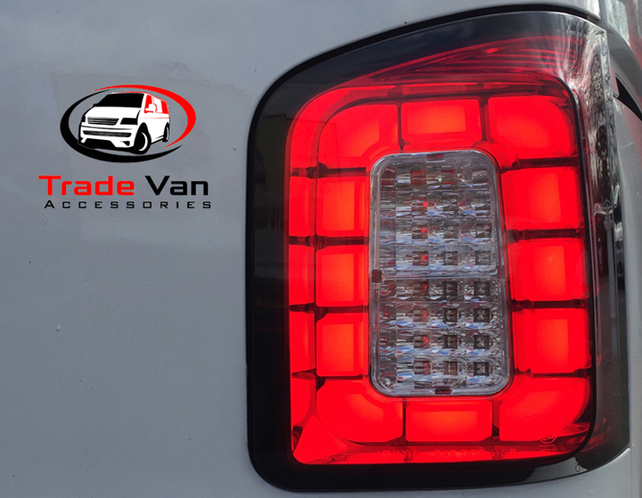 VW T6 TAILLIGHTS BLACK SMOKED TWIN DOOR