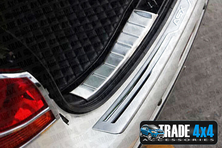 Our stainless steel Mitsubishi ASX rear boot guard inner bumper protector is an eye-catching and stylish addition for your 4x4. Buy online at Trade 4x4 Accessories.
