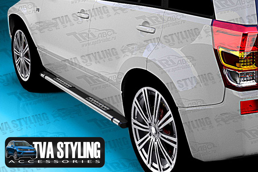 Our Emerald Black Side Steps really upgrade the side of your Vehicle, these Running Boards add style and functionality to your 4x4 SUV. Find more Accessories online at Trade Van Accessories.