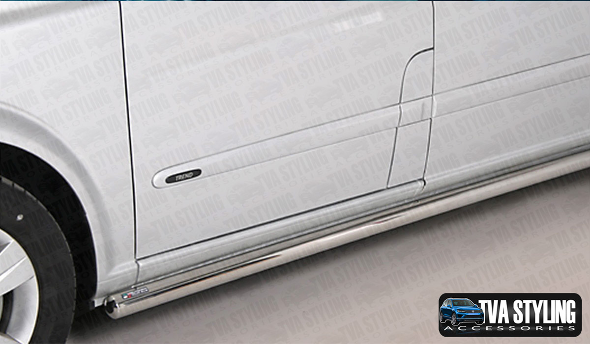 Our Stainless Steel Mercedes Viano SWB TPS Side Bars are an eye-catching and stylish addition for your van. Buy online at Trade van Accessories.