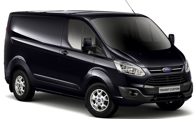Ford Transit Custom Spoilers in Panther Black from Trade Van Accessories