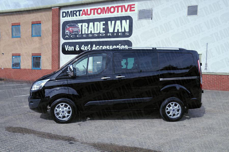 Our Sahara Roof Rack Roof Rails for Ford Transit Custom Vans really upgrade the Van Style of your Transit Custom.