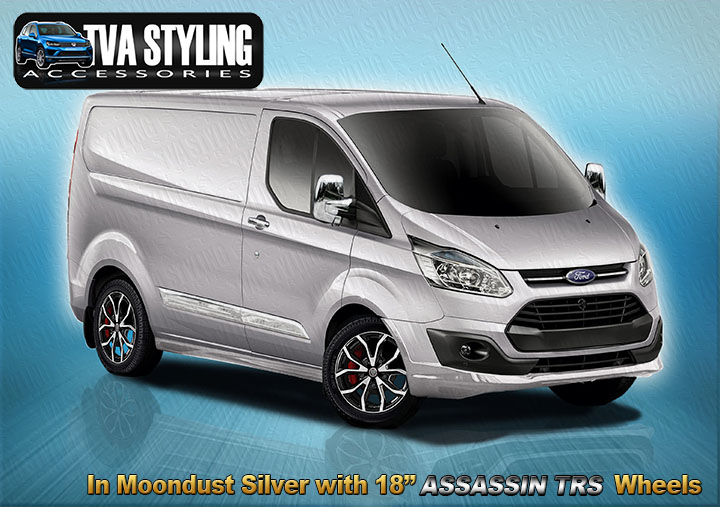 Our Ford Transit Custom Full Body Kit Spoiler Set finished in ALL the Official Ford Colours.