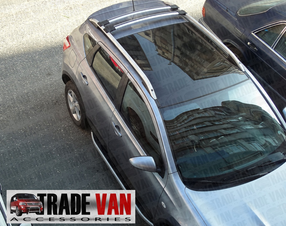This Picture shows our roof rails and optional roof bars fitted to a car - but this listing is for roof bars for a VW T5