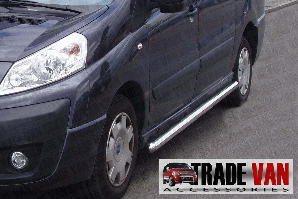Our Vauxhall Combo 2012 Side Bars really upgrade your Vauxhall Combo Van or MPV. These stainless steel sidebars will fit all Combo 2012 on models. Buy all your Van accessories online at Trade Van Accessories.
