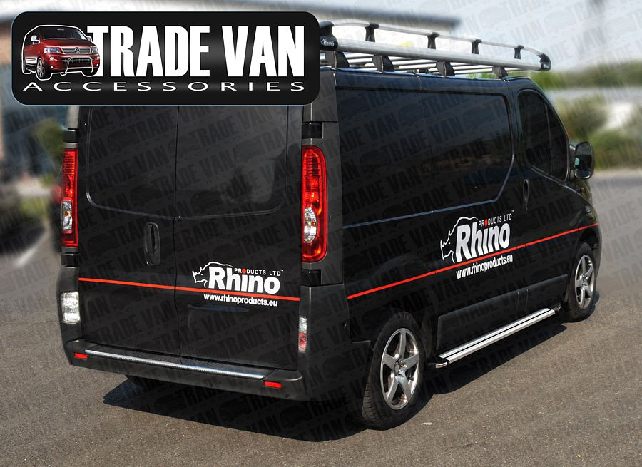 Our Vauxhall Vivaro Van Side Steps accessories really upgrade your Vivaro with our Van styling accessories- Buy online at Trade Van Accessories.