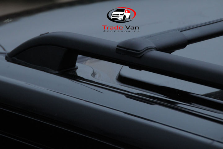 VW T5 TRANSPORTER BLACK ROOF RAIL