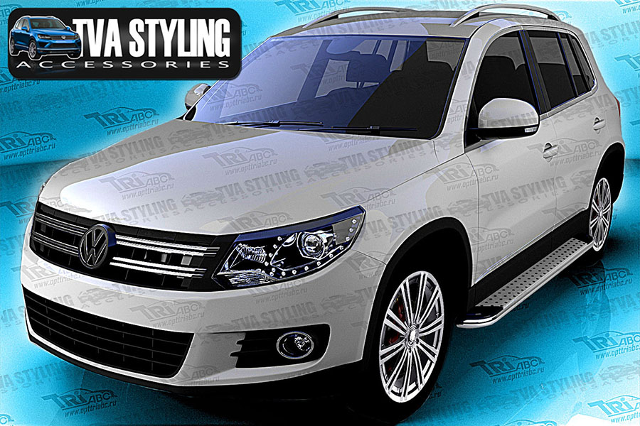 vw tiguan side steps pearl side steps trade 4x4. Black Bedroom Furniture Sets. Home Design Ideas