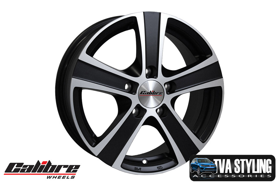 """VW Caddy Alloys Calibre Highway Matt Black 16 inch alloy wheels sets are load rated for Van with Axle Load Rating for Caddy, 16"""" alloy wheels. Buy Online at TVA Styling"""