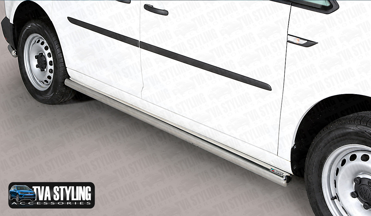 Our Stainless Steel VW Caddy TPS Side Bars are an eye-catching and stylish addition for your van. Buy online at TVA Styling.
