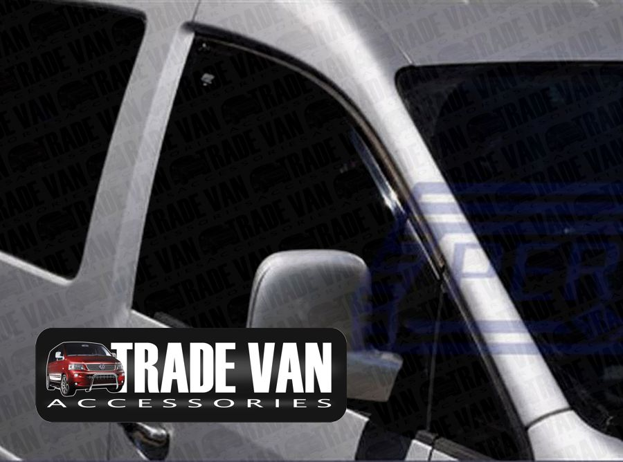 Our VW Caddy Side Door Wind Deflectors fit over the side windows on the Caddy Van for a great van accessory - Buy Online at Trade Van Accessories