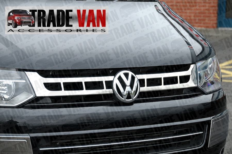 Our T5 transporter grille covers really upgrade the front styling of your VW T5 transporter or caravelle 2010 on.