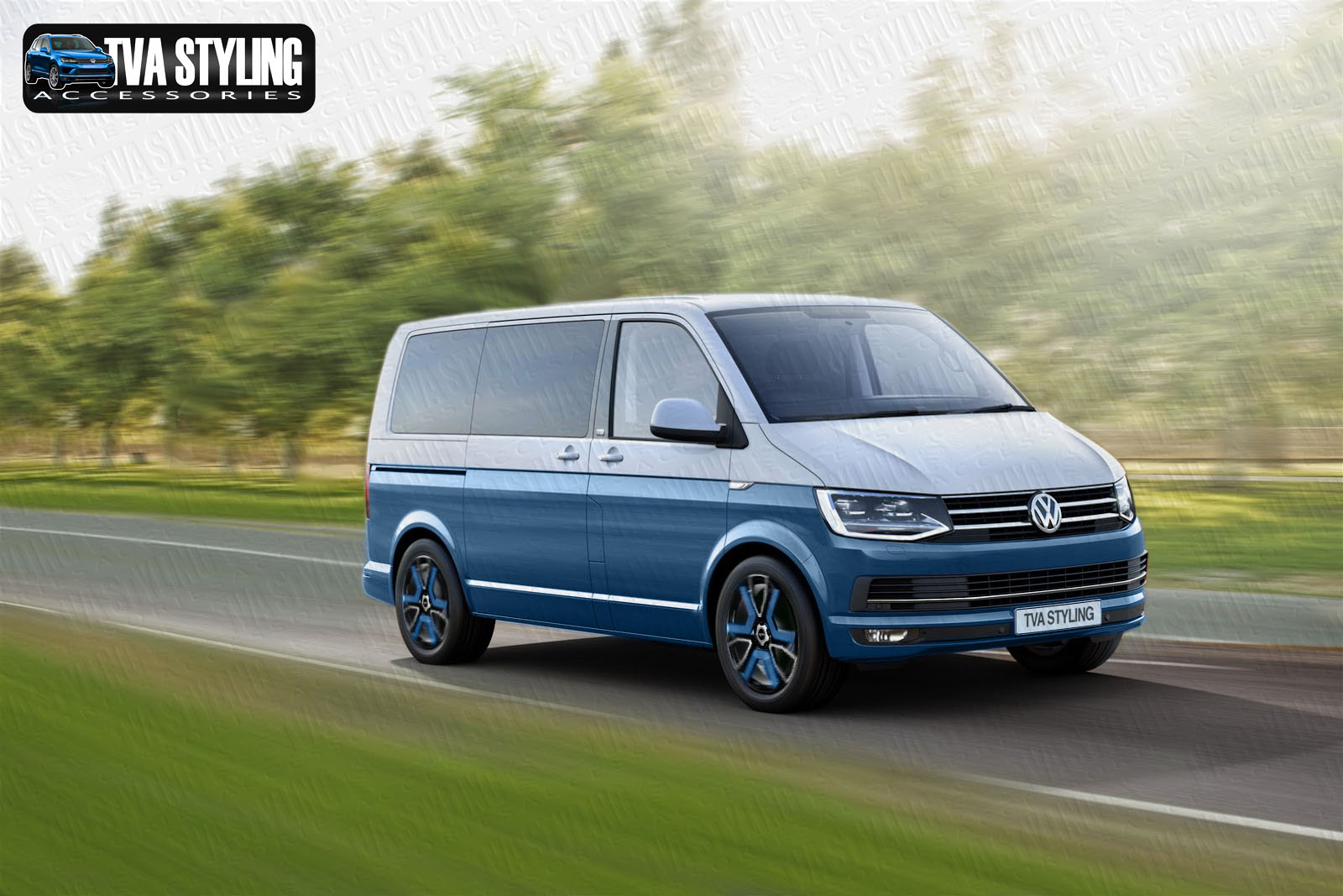 vw transporter t6 alloy wheels in vw colour tva styling. Black Bedroom Furniture Sets. Home Design Ideas