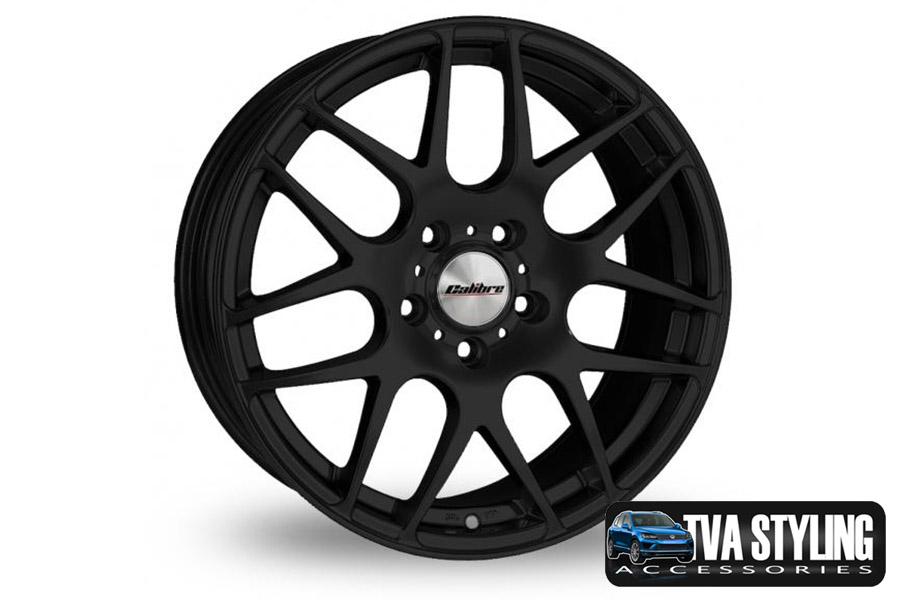 """VW T6 Transporter Exile Matt Black 18"""" Alloy Wheels Alloys Set of 4"""