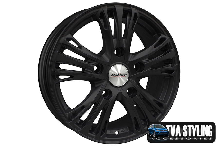 "VW T6 Transporter Odyssey Matt Black 18"" Alloy Wheels Alloys Set of 4"