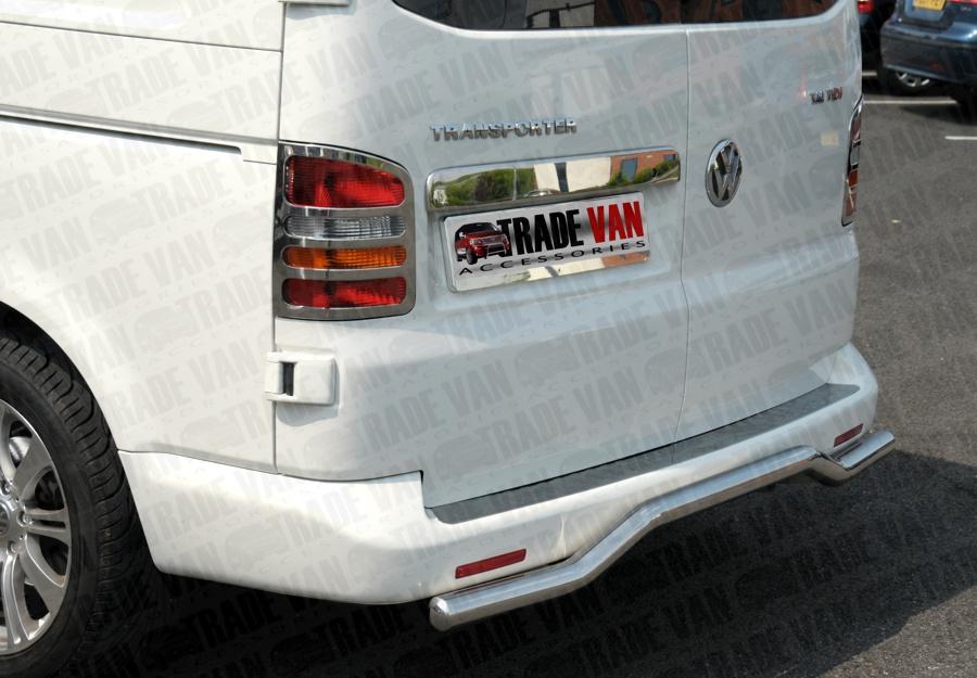VW T6 Transporter//Caravelle//Multivan Chrome Rear Bumper Protector Guard S.Steel