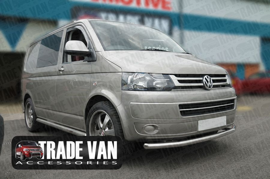 Our VW T5 Transporter front Radiator Grille Set in Chrome Look Polished Stainless Steel is a great Front Styling Accessory for your VW T5 Van. Buy Online at Trade Van Accessories