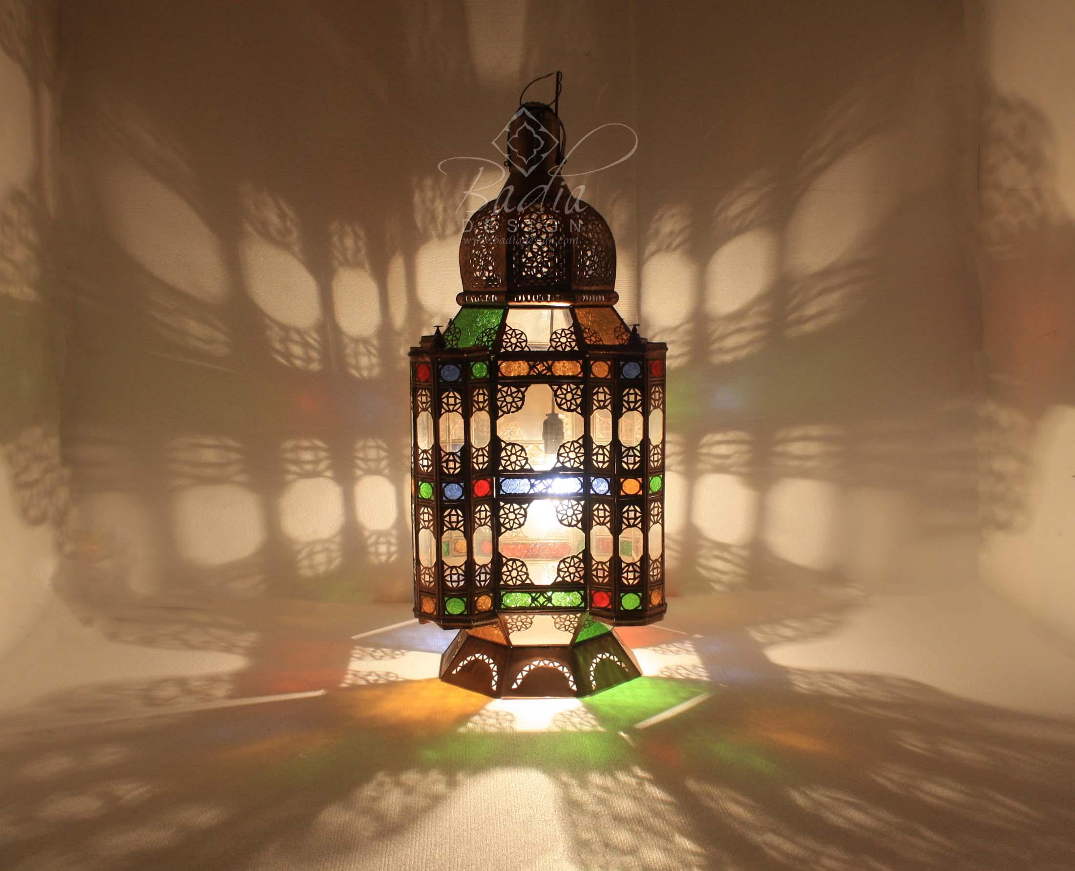 bronze-floor-lantern-with-multi-color-glass-lig390-2.jpg