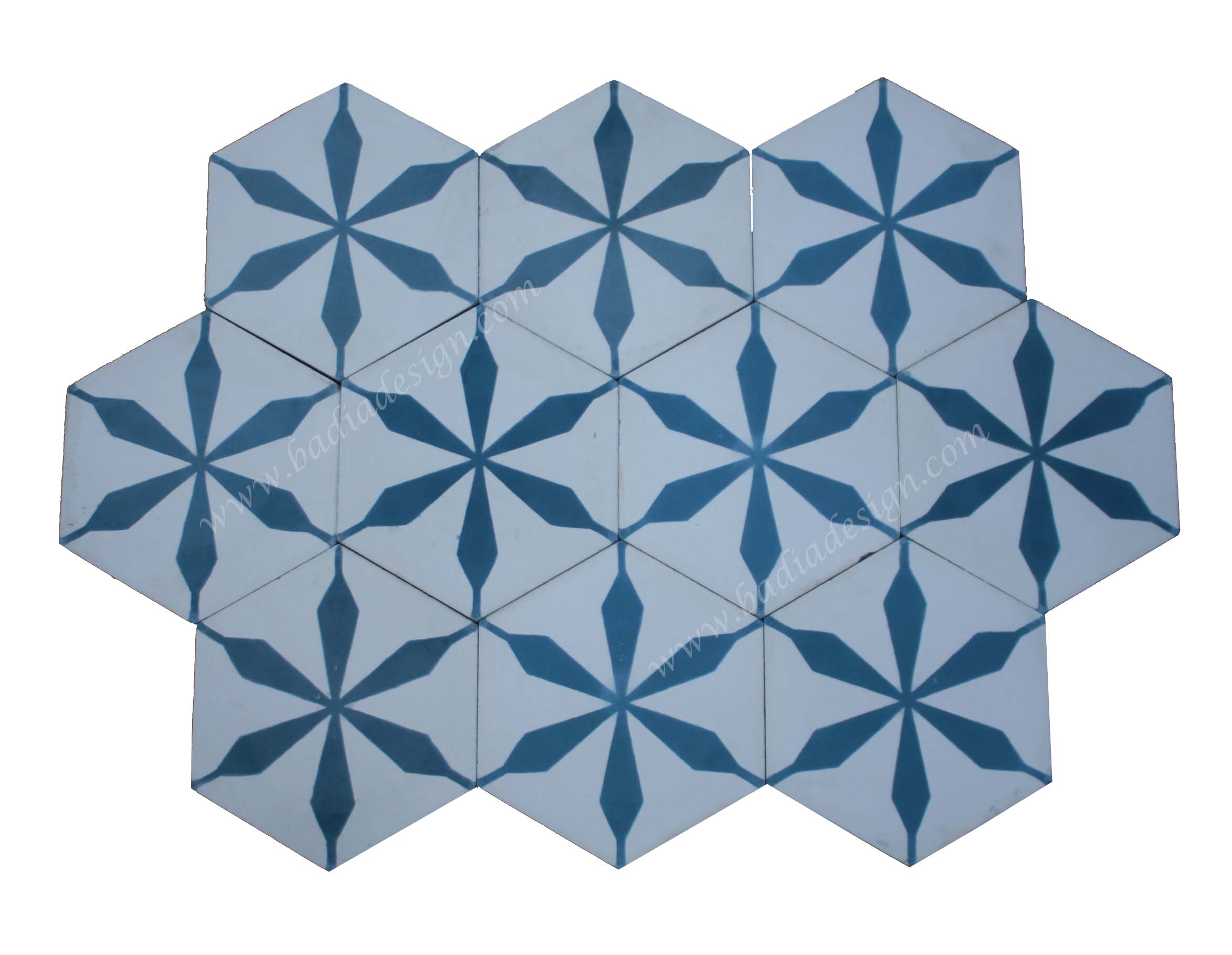 - Hexagon Shaped Moroccan Cement Tile From Badia Design Inc.