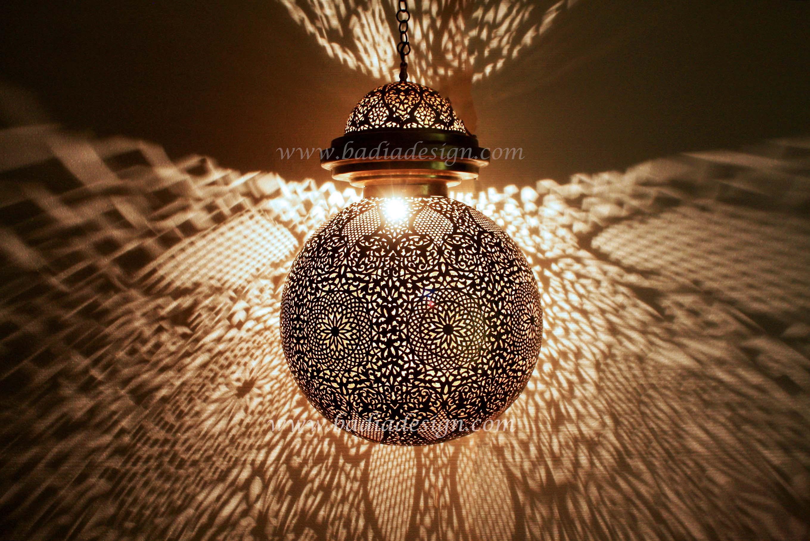 Large Moroccan Brass Lantern