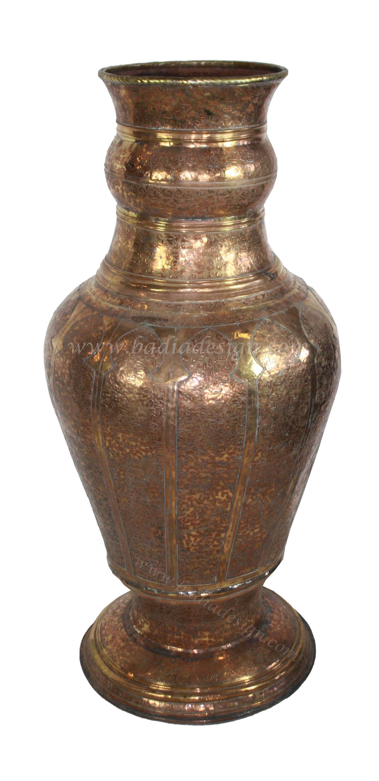 Large Moroccan Brass Urn