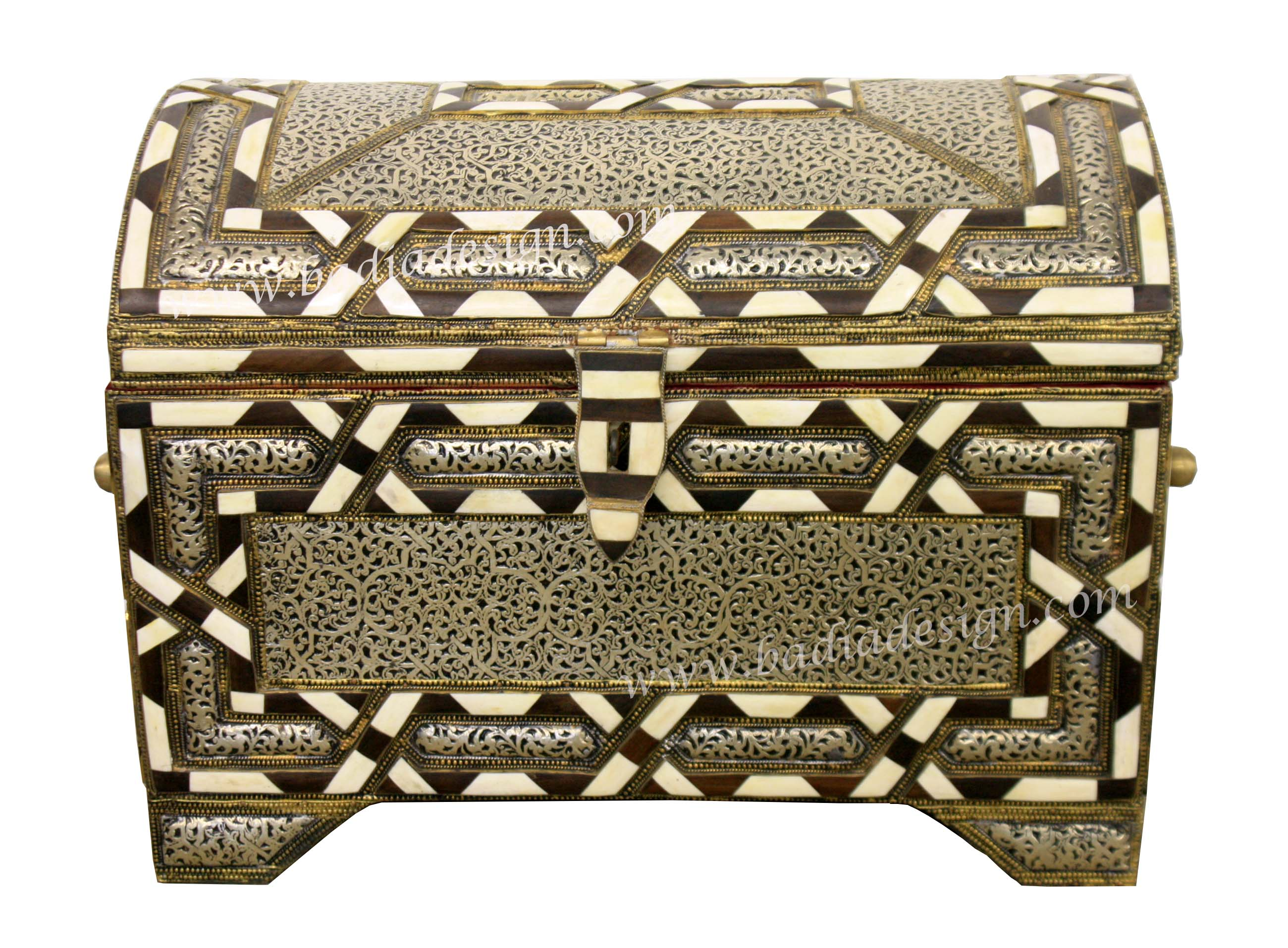 Moroccan Metal and White Bone Trunk