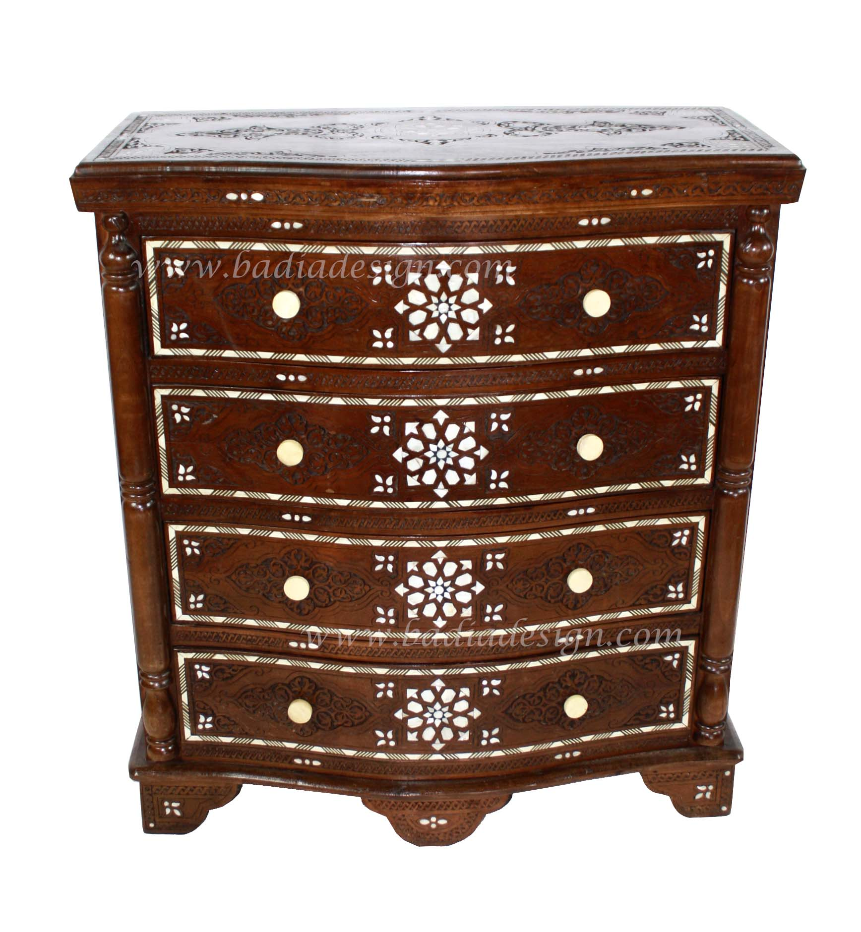 Moroccan Bone Inlay Dresser