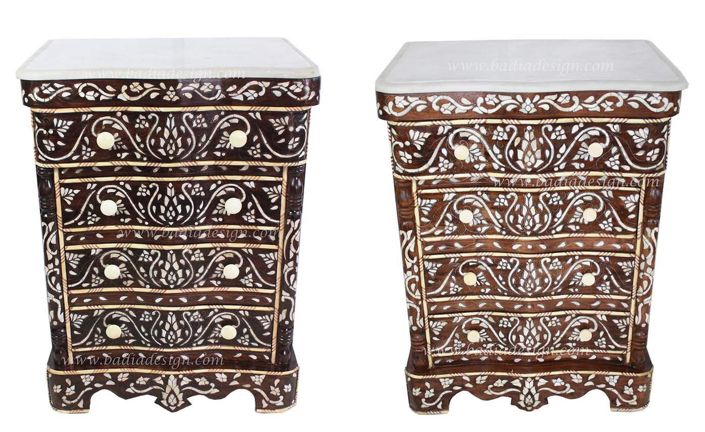Moroccan Mother of Pearl Nightstand