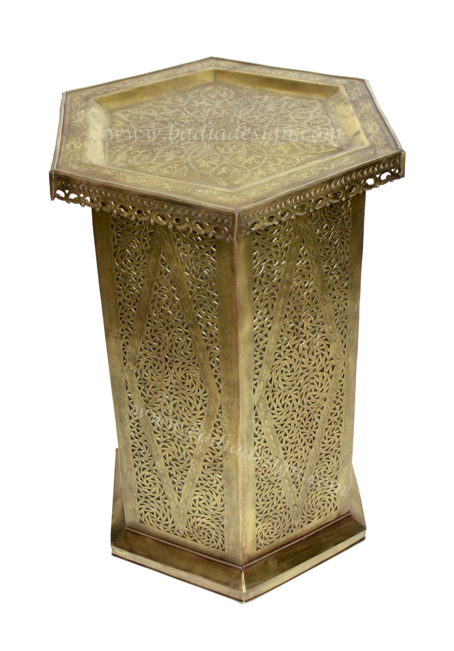 Moroccan Brass Side Table