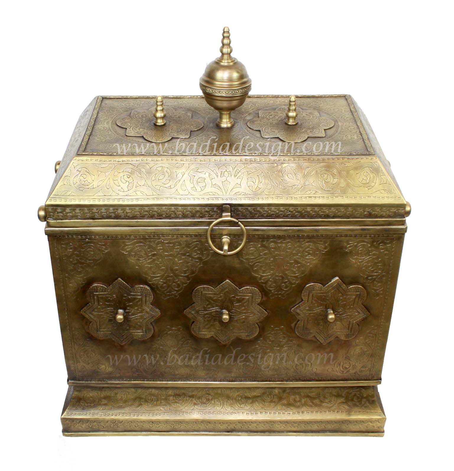 Moroccan Brass Trunk