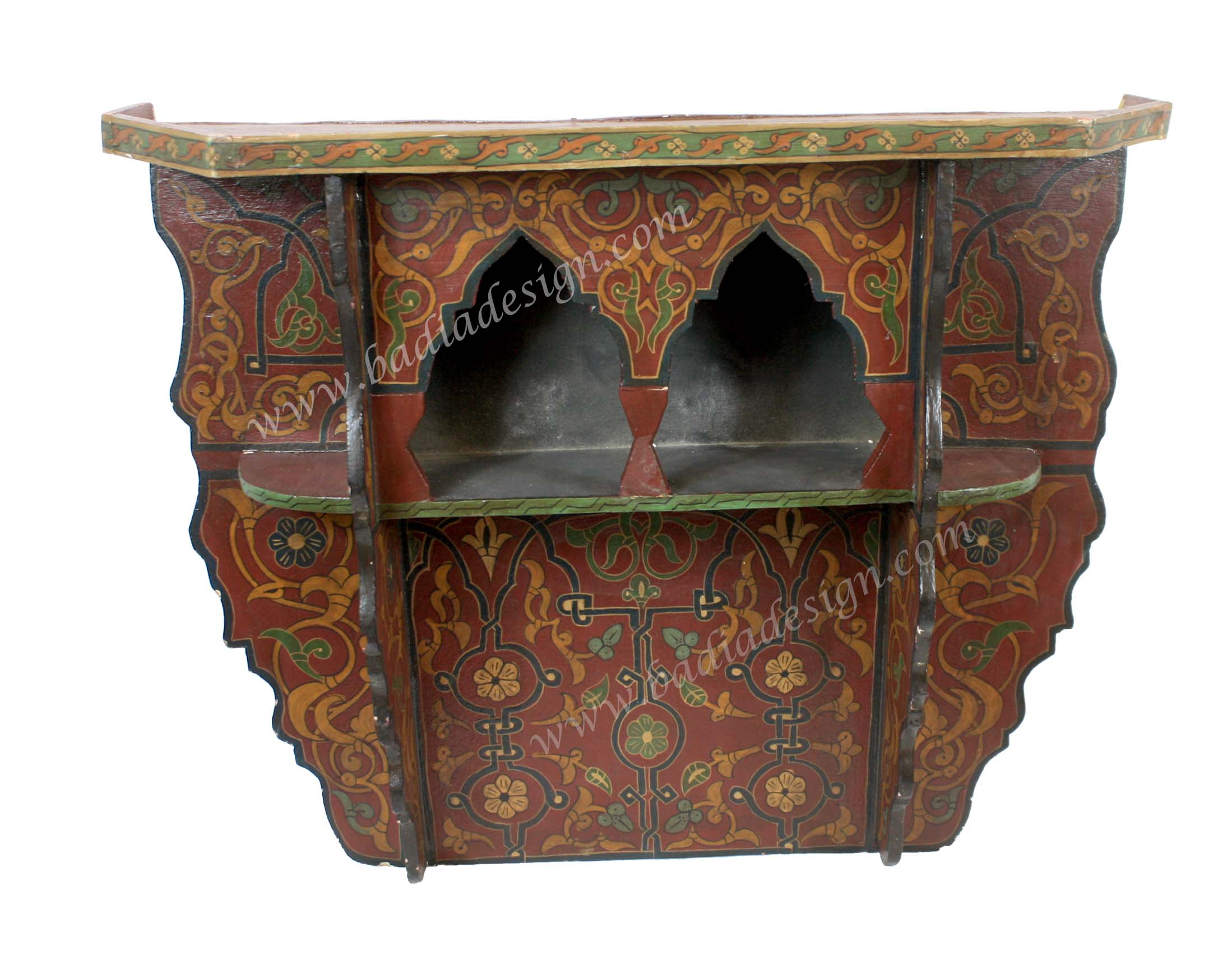 Moroccan Hand Painted Wall Shelf