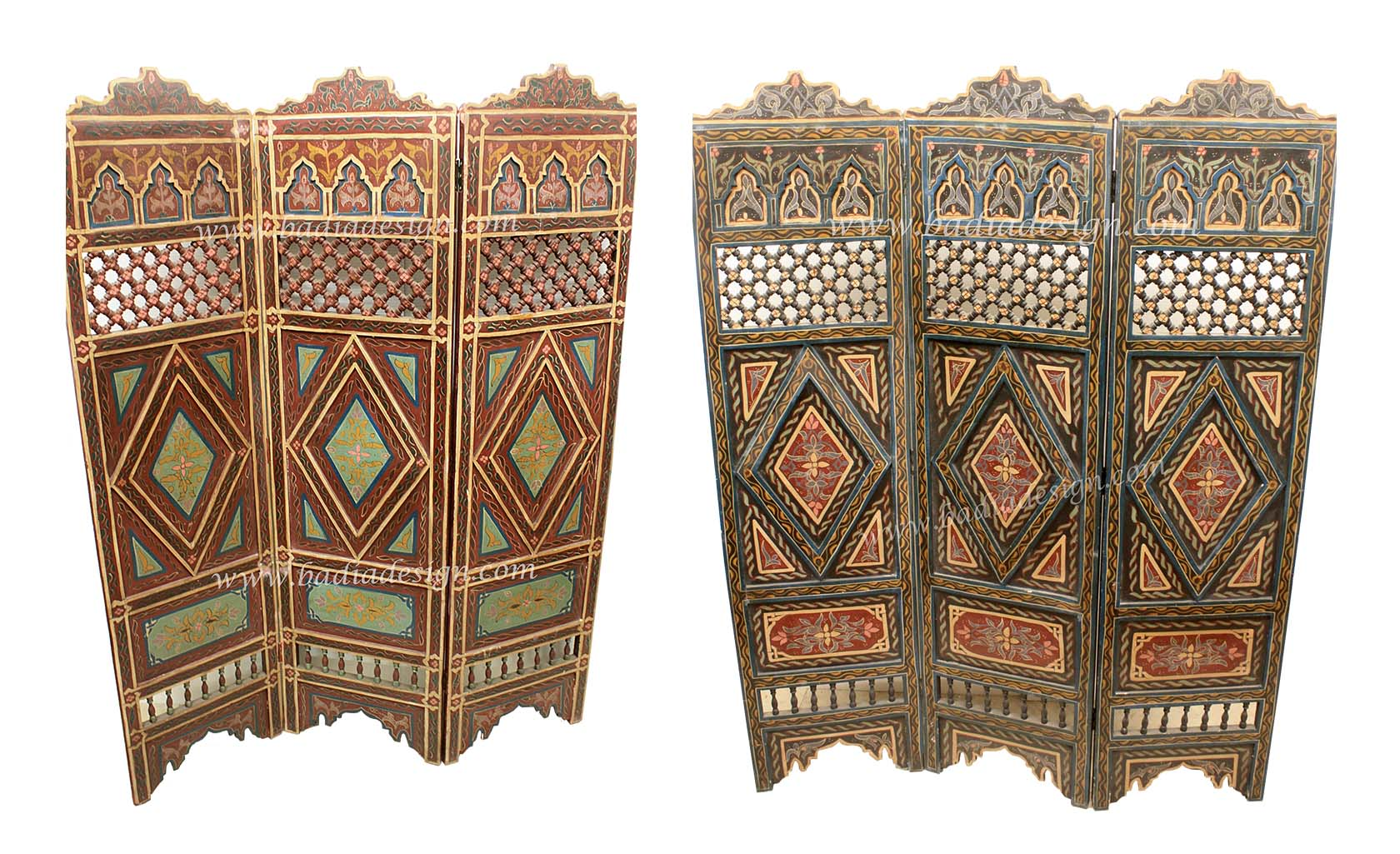 Moroccan Hand Painted Wooden Divider