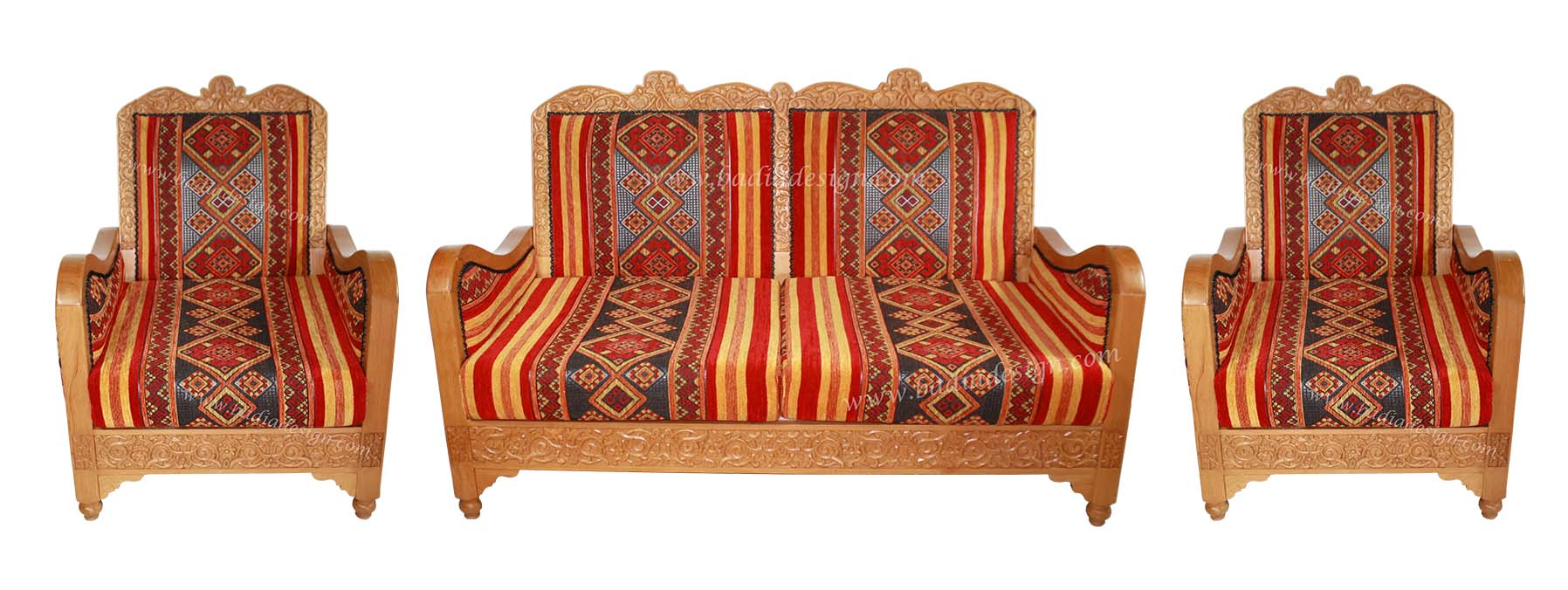 Moroccan Loveseat and Chair Set