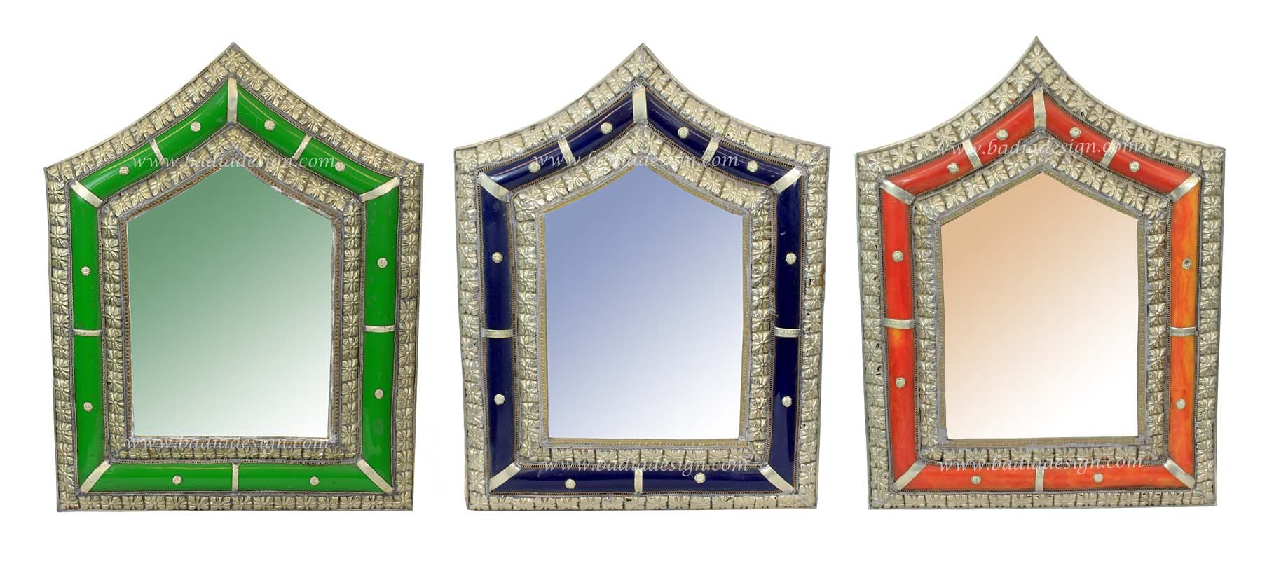 Moroccan Metal and Resin Mirror
