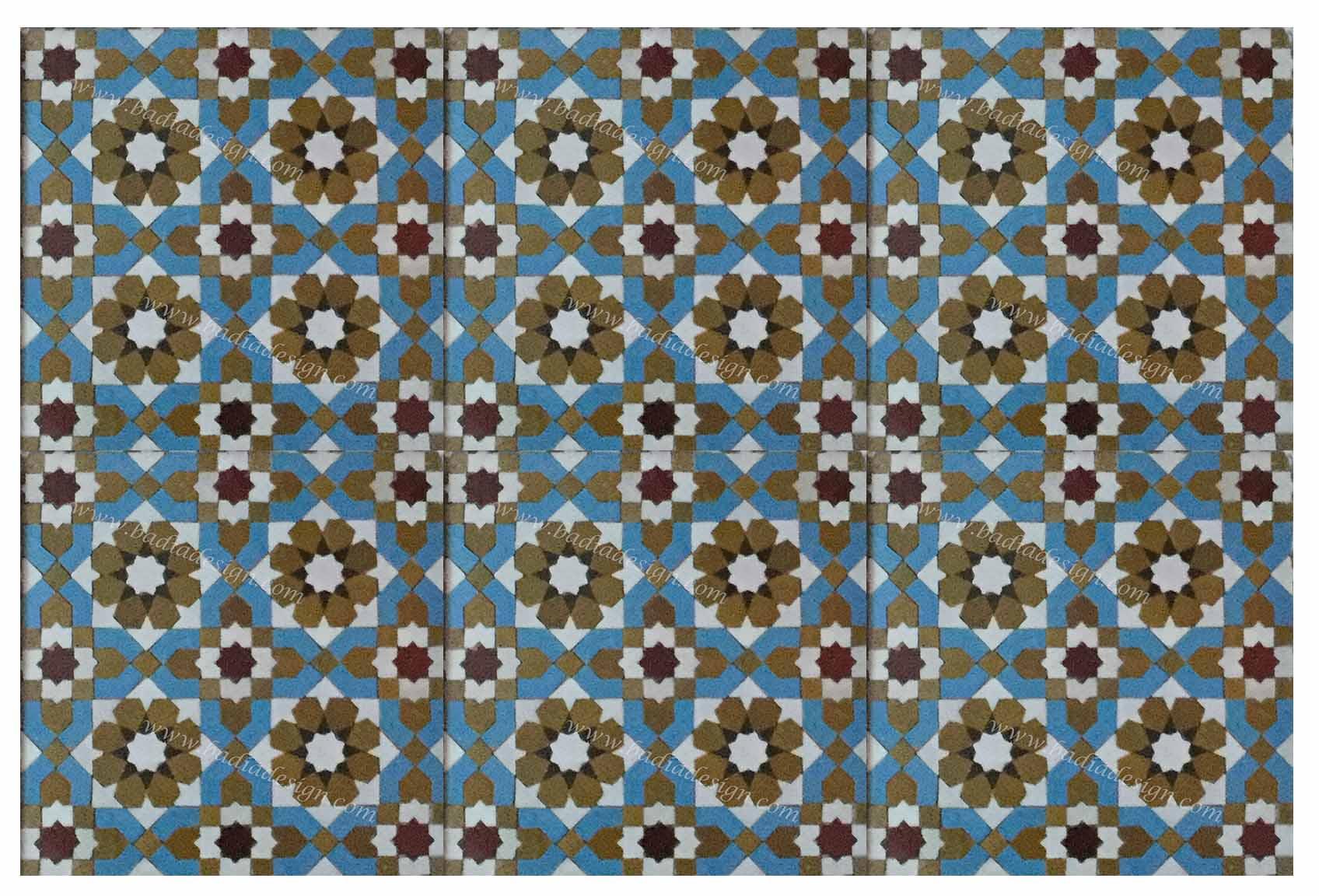 Moroccan Mosaic Floor Tiles from Badia Design Inc.