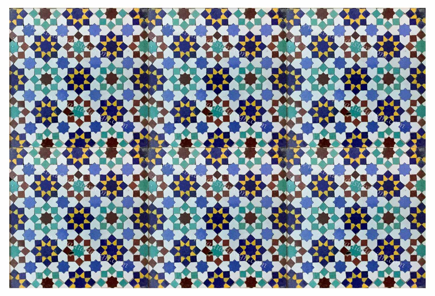 Moroccan Mosaic Hand Painted Tile from Badia Design Inc.