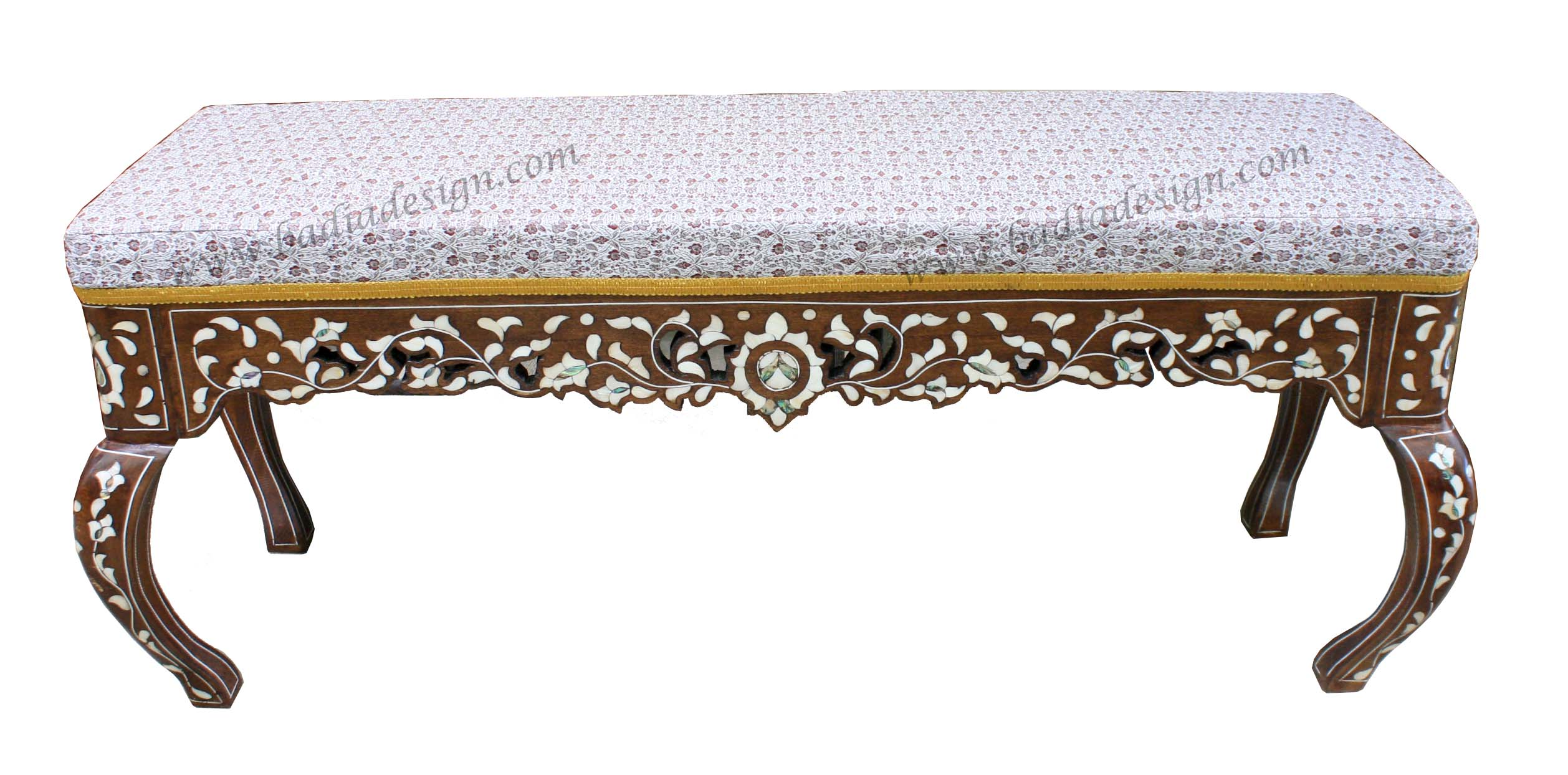 Moroccan Mother of Pearl Bench
