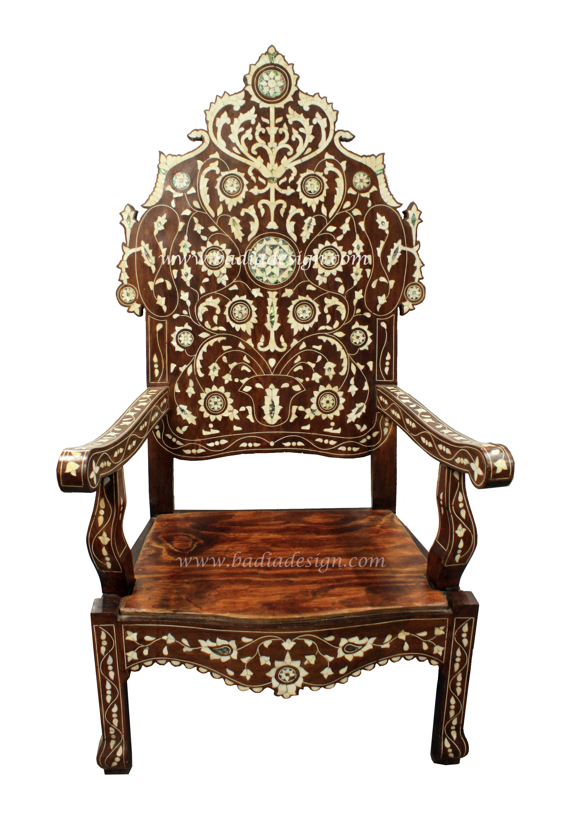 Moroccan Mother of Pearl Chair