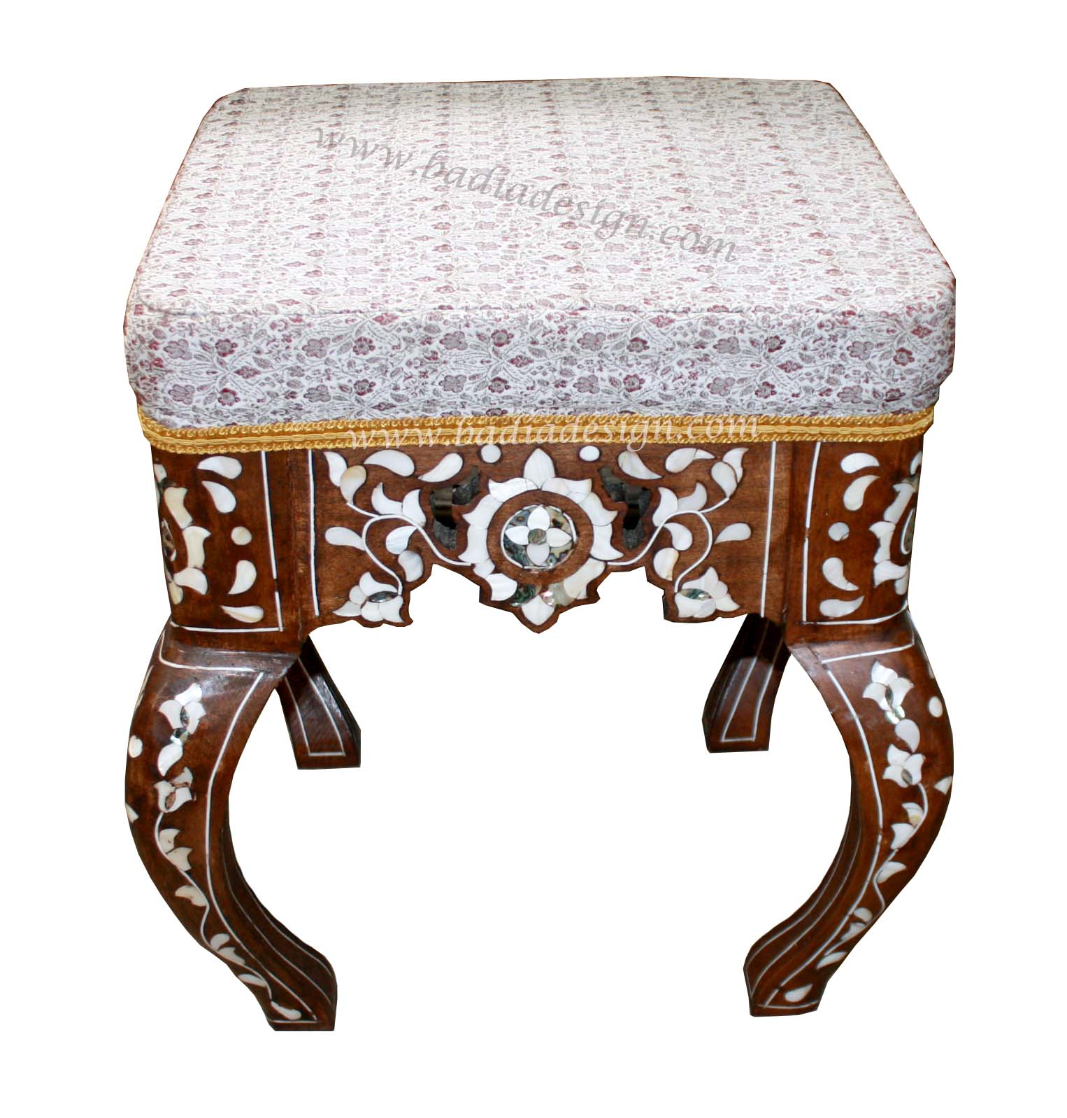 Moroccan Mother of Pearl Footstool
