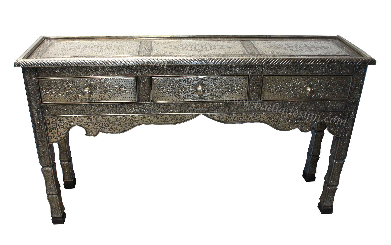 Moroccan Silver Nickel Table